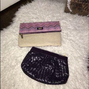 2 tarte makeup bags